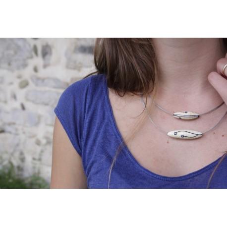 Collier de Perles de Verre - Andromède