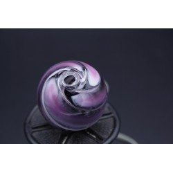 Perle rose en verre de murano soufflée