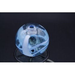 Perle bleu en verre de murano soufflée